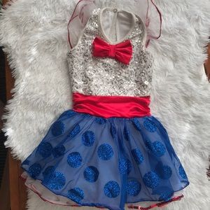 Patriotic Red, White and Blue Dance Costume XS